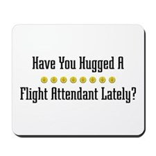 Hugged Flight Attendant Mousepad