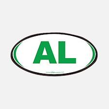 Alabama AL Euro Oval GREEN Patches