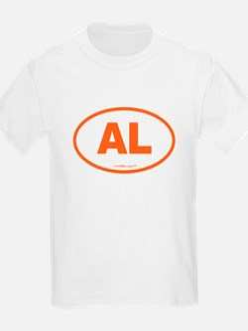 Alabama AL Euro Oval ORANGE T-Shirt