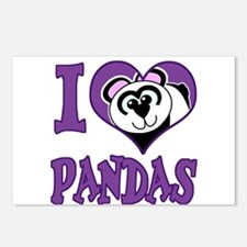 I Love (Heart) Pandas Postcards (Package of 8)