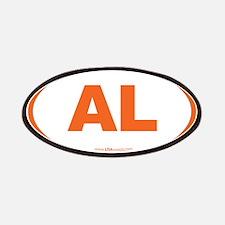 Alabama AL Euro Oval ORANGE Patches