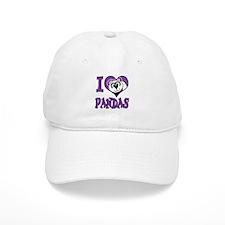 I Love (Heart) Pandas Baseball Cap
