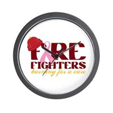 Fighters Burning For A Cure Wall Clock
