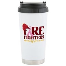 Fighters Burning For A Cure Travel Mug