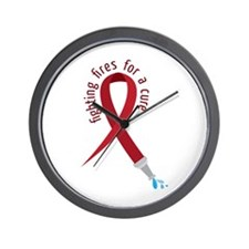 Fighting Fires For A Cure Wall Clock