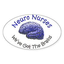 neuro nurse weve brains BLUE Decal