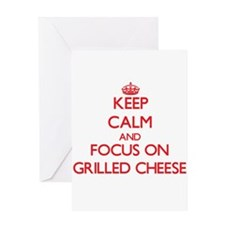 Keep Calm and focus on Grilled Cheese Greeting Car