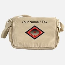 Custom Red Baseball Diamond Messenger Bag