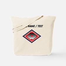 Custom Red Baseball Diamond Tote Bag
