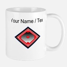 Custom Red Baseball Diamond Mugs