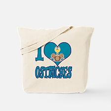 I Love (Heart) Ostriches Tote Bag