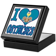 I Love (Heart) Ostriches Keepsake Box