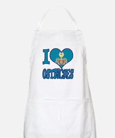 I Love (Heart) Ostriches BBQ Apron