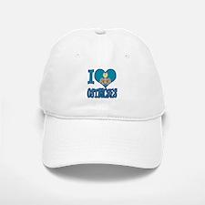 I Love (Heart) Ostriches Baseball Baseball Cap