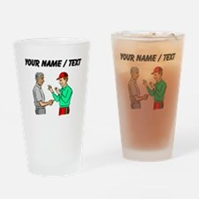 Custom Baseball Umpire And Manager Drinking Glass