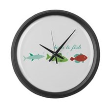 Born to Fish Large Wall Clock