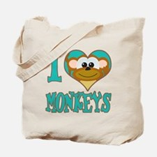 I Love (Heart) Monkeys Tote Bag