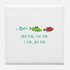 I Fish You Fish Tile Coaster
