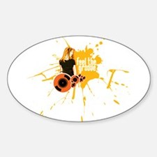 Feel The Groove Oval Decal