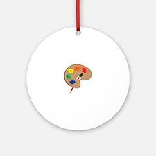 Artist Palette Ornament (Round)