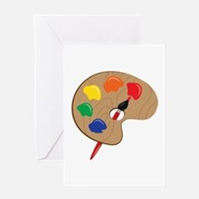 Artist Palette Greeting Cards