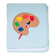 Artist Palette baby blanket