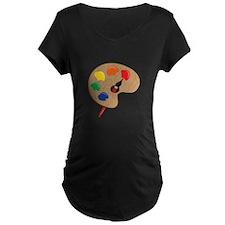 Artist Palette Maternity T-Shirt