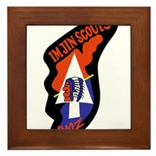 Cute Scouts Framed Tile