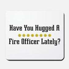 Hugged Fire Officer Mousepad