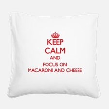 Cool I love cheese Square Canvas Pillow