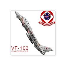 F-14 Tomcat VF-102 DIAMONDBAC Sticker (Rectangular