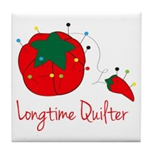 Longtime Quilter Tile Coaster