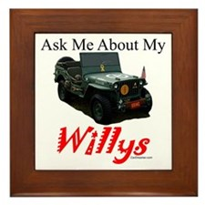 """""""Ask Me"""" Framed Tile"""