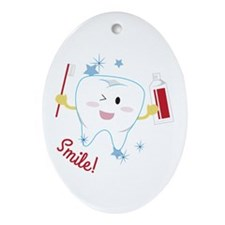 Smile! Ornament (Oval)