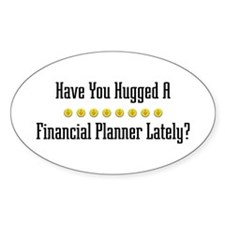 Hugged Financial Planner Oval Decal