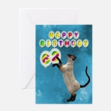 62nd birthday with siamese cat. Greeting Cards