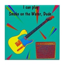 Guitar player Tile Coaster