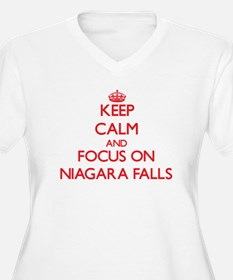 Keep Calm and focus on Niagara Falls Plus Size T-S