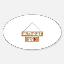 Outhouse 25¢ Decal