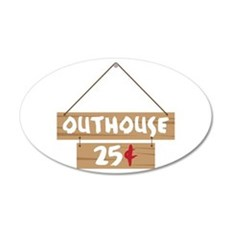 Outhouse 25¢ Wall Decal