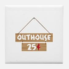 Outhouse 25¢ Tile Coaster