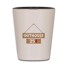 Outhouse 25¢ Shot Glass