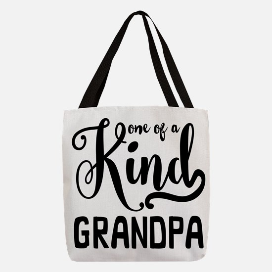 One of a Kind Grandpa Polyester Tote Bag