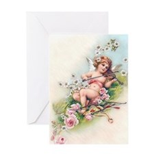 Angel, Roses, Violin Greeting Cards