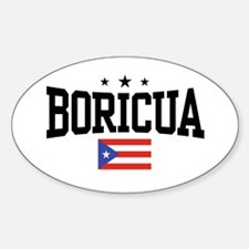 Boricua Oval Decal