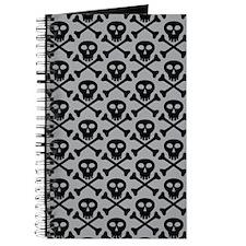 Skull and Crossbones Gray Journal