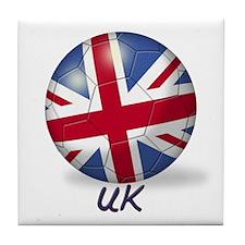 UK Flag Soccer Ball Tile Coaster