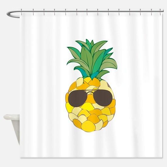 Sunny Pineapple Shower Curtain