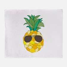 Sunny Pineapple Throw Blanket