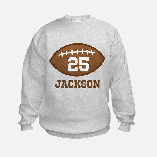 Personalized Football Player Sweatshirt